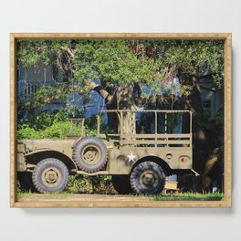 Military Jeep Serving Tray