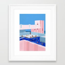 Spain Pool Framed Art Print