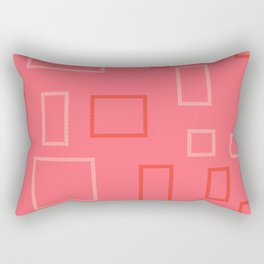 Shapes on Coral Rectangular Pillow