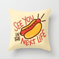 Eternal Hot Dog Throw Pillow