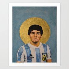 D Maradonnna (1979) - Football Icon Art Print