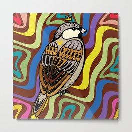 Sparrow Bird Metal Print