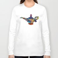 aladdin Long Sleeve T-shirts featuring Looking for the genie by Ilse S