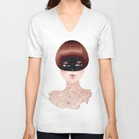 leah flores V-neck T-shirts featuring Flores by Pete K.