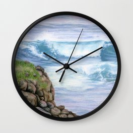 Cliff By The Sea Wall Clock