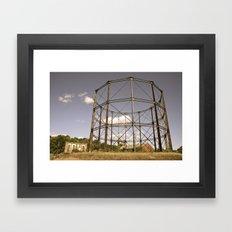 Gasometer Beauty Framed Art Print