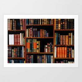 The Bookshelf (Color) Art Print