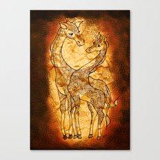 Henna Giraffe Canvas Print