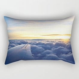Sunrise Above the Clouds Rectangular Pillow