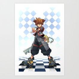 Sora: The Keyblade Master Art Print