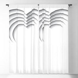 Heart Paper Cutout B&W 013 Blackout Curtain