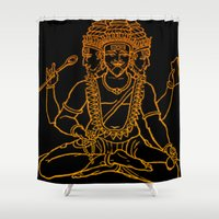 hindu Shower Curtains featuring Hindu by Littlefox