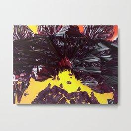 Black Licorice (3D Digital Fractal Art) Metal Print