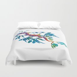 Geometric Abstract Weedy Sea Dragon Duvet Cover