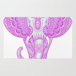 Mandala elephant pink Rug