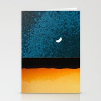 moon phase Stationery Cards featuring New Moon - Phase II by Marina Kanavaki