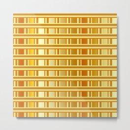 Gold glittering seamless lines pattern Metal Print