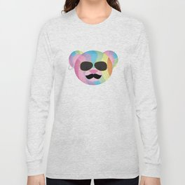 Punk Rainbow Bondage Bear Long Sleeve T-shirt