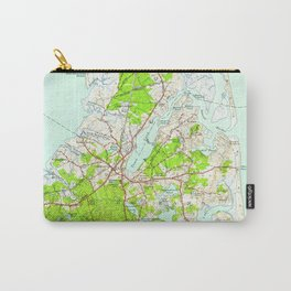 Vintage Map of Orleans Massachusetts (1946) Carry-All Pouch