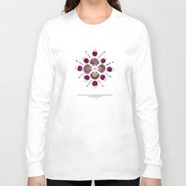 nature mandala... pine cone seeds, mexican scallop shells, pressed purple bougainvillea... Long Sleeve T-shirt