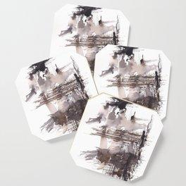 Bondage- 151124  Abstract Watercolour Coaster