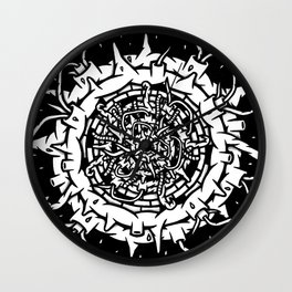 Abstract Planet Explosion Wall Clock