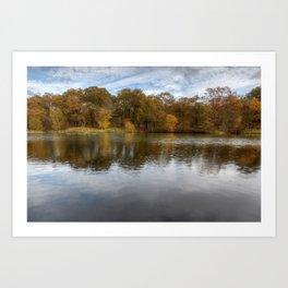 Autumn Ponds - 1 Art Print