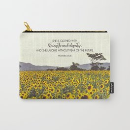 Proverbs and Sunflowers Carry-All Pouch