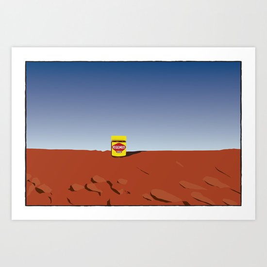 outback vegemite Art Print