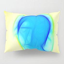 Blue woman Pillow Sham