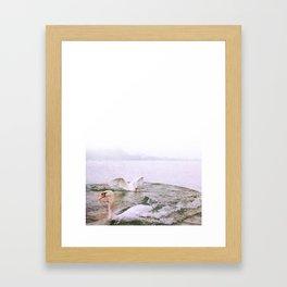 t(w)ogether in the lake Framed Art Print