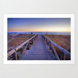 The path..., the beach.... Art Print