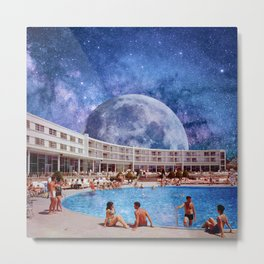 Summer in Space Metal Print