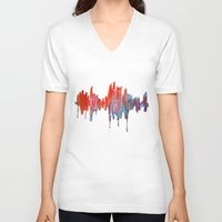 argentina V-neck T-shirts featuring Argentina by Jeannette Stutzman