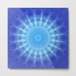 Mandala blue Star Metal Print