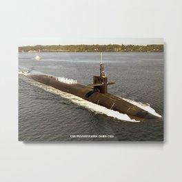 USS PENNSYLVANIA (SSBN-735) Metal Print