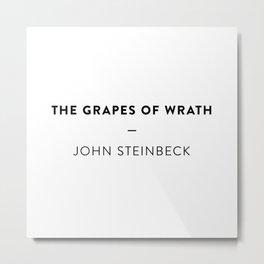 The Grapes of Wrath  —  John Steinbeck Metal Print