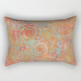 Gelatin monoprint 19 Rectangular Pillow