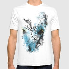 Chaos Thinking Mens Fitted Tee White SMALL
