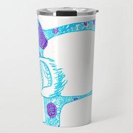 42. University Monster in Halloween with Henna Pattern Travel Mug