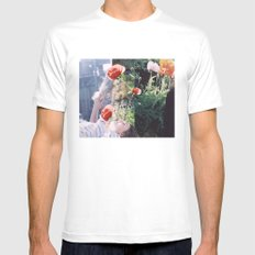 Friends + Flowers Mens Fitted Tee MEDIUM White