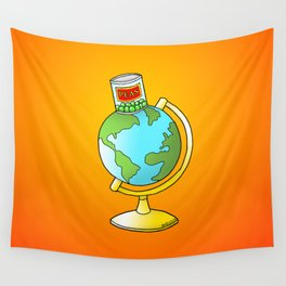 Peas on Earth Wall Tapestry