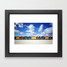 Muizenberg Beach Framed Art Print
