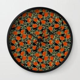 Bottlebrush Flower Wall Clock