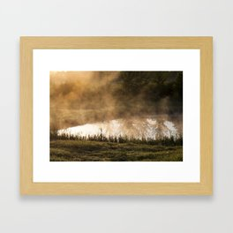 small lake Framed Art Print
