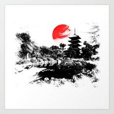 Abstract Kyoto - Japan Art Print