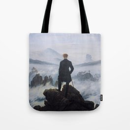 WANDERER ABOVE THE SEA OF FOG - CASPAR DAVID FRIEDRICH Tote Bag