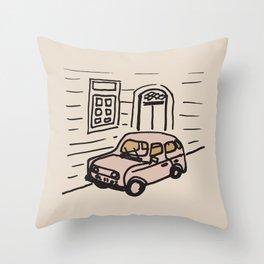 saving for a european road trip Throw Pillow