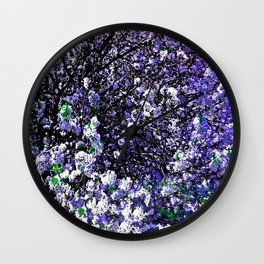 TREES PURPLE AND WHITE Wall Clock