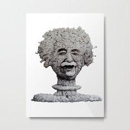 Einstein blows his mind Metal Print